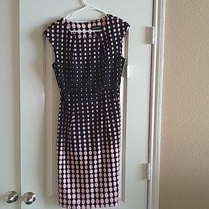 Poka-dotted Women's Dress with belt